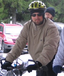 Steve in the 2007 Ride for Refugees